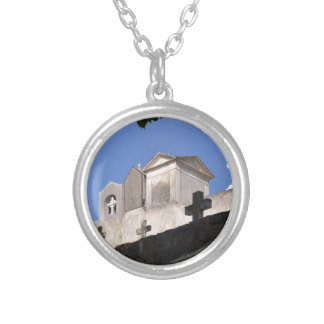 Cemetery in Menton Silver Plated Necklace