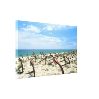 Cemetery Of Anchors Canvas Print