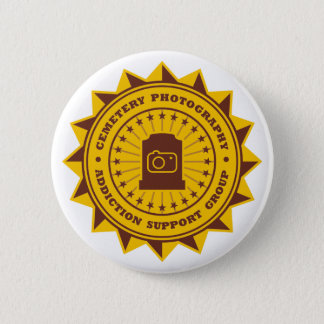 Cemetery Photography Addiction Support Group 2 Inch Round Button