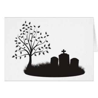 Cemetery Scene Card