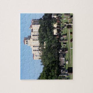 Cemetery west palm beach florida trees n buildings jigsaw puzzle