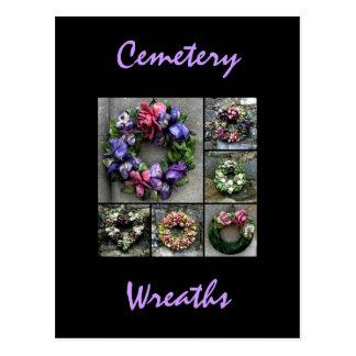 Cemetery wreaths post card