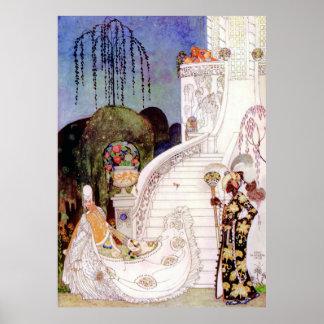 Cendrillon de Kay Nielsen laissant la boule Poster