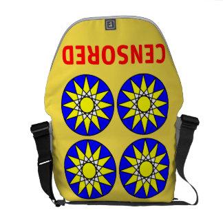 Censored 631 Art Messenger Bag