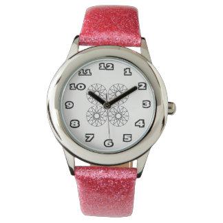 Censored Kid's Pink Glitter Watch