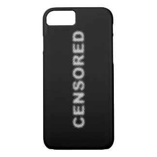 CENSORED (light grey) iPhone 7 Case