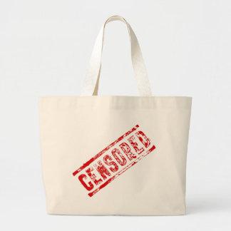 Censored Rubber Stamp Large Tote Bag