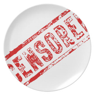 Censored Rubber Stamp Plate