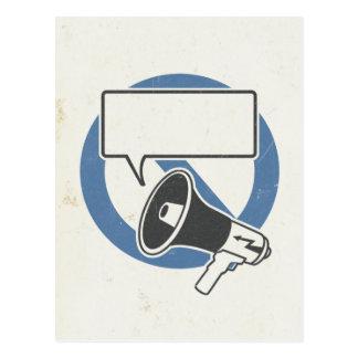 Censorship blue postcard