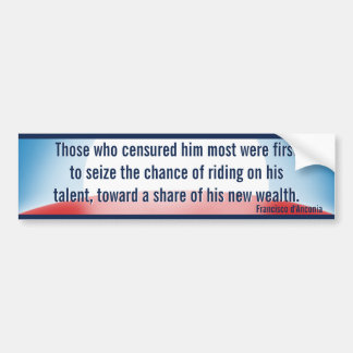 Censure & Wealth Seizure (Rand) Car Bumper Sticker
