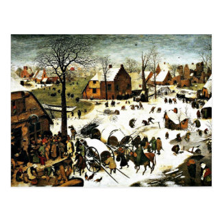 Census at Bethlehem-1566, Pieter the Elder Postcard