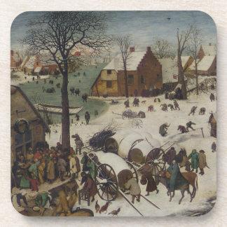 Census at Bethlehem by Pieter Bruegel Coaster