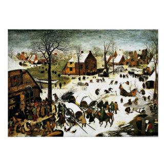 Census at Bethlehem, Pieter Bruegel the Elder art Poster