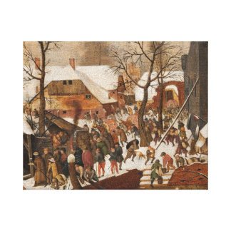 Census in Bethlehem Canvas Print
