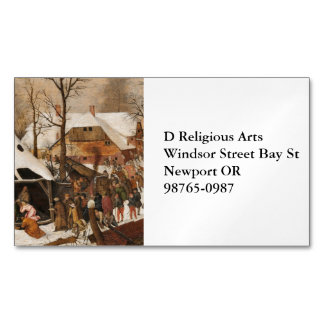 Census in Bethlehem Magnetic Business Card