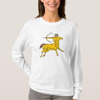 Centaur Aims Bow Arrow Mythical Creature Figure T-Shirt