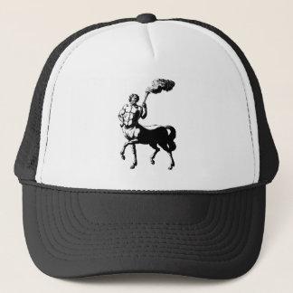 Centaur holding torch trucker hat