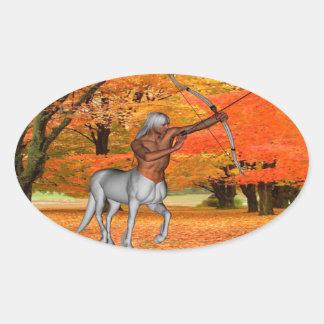 Centaur Oval Sticker
