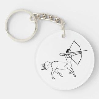 centaur sagittarius greek astrology zodiac Double-Sided round acrylic keychain