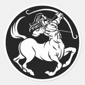Centaur Sagittarius Zodiac Sign Classic Round Sticker