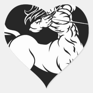 Centaur Sagittarius Zodiac Sign Heart Sticker