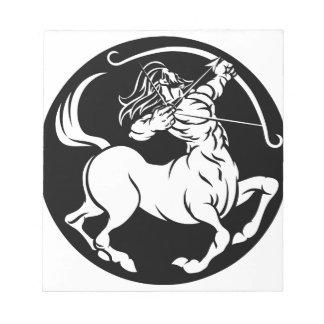 Centaur Sagittarius Zodiac Sign Notepad