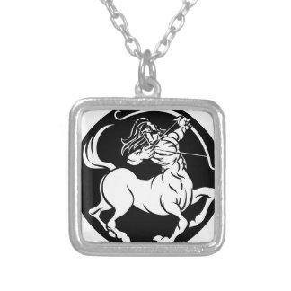 Centaur Sagittarius Zodiac Sign Silver Plated Necklace