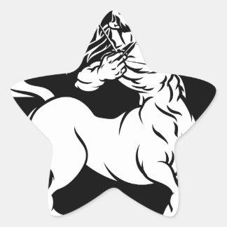 Centaur Sagittarius Zodiac Sign Star Sticker