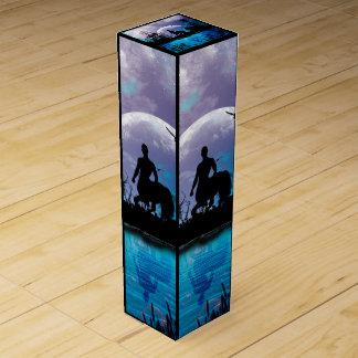 Centaur silhouette wine gift box