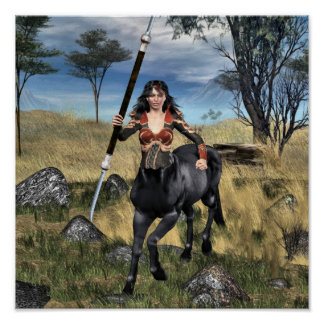 Centaur Warrioress Poster
