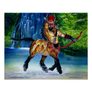 Centaur with Waterfall print