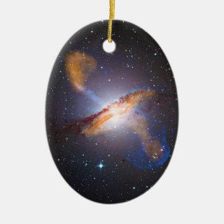 Centaurus A Shows a Supermassive Black Holes Power Ceramic Ornament