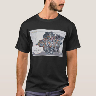 Centaurus Radial Aircraft Engine Cutaway Drawing T-Shirt