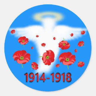 Centenary of End of First World War Classic Round Sticker