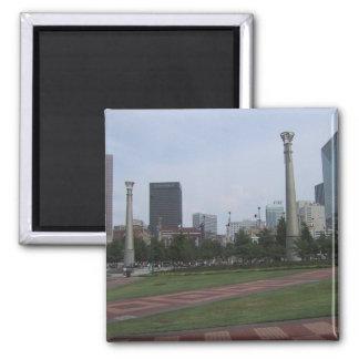 Centenial Olympic Park At Downtown Atlanta, Ga, Square Magnet