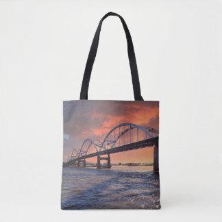 Centennial Bridge at Sunset Tote Bag