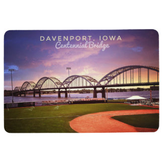 Centennial Bridge Davenport Iowa Floor Mat