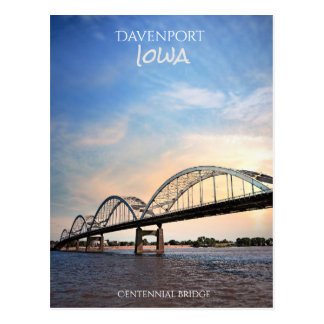 Centennial Bridge Over the Mississippi River Postcard