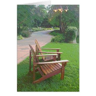"Centennial Lakes ""Chairs by the Walkway"" Edina, MN Card"