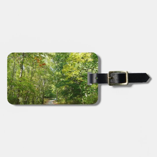 Centennial Wooded Path I Ellicott City Nature Luggage Tag