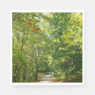 Centennial Wooded Path I Ellicott City Nature Paper Napkin