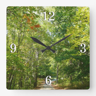 Centennial Wooded Path I Ellicott City Nature Square Wall Clock