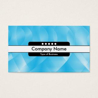 Center Band 5 Spots - Blue Curves Business Card