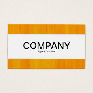Center Band  - Painted Orange Business Card