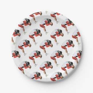 Center Hiking Ball Paper Plate