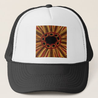 center hole circles trucker hat