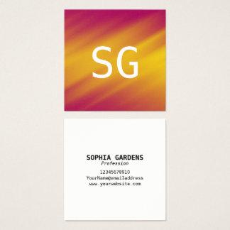 Center Initials - Square - Soft Ripples Square Business Card
