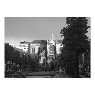 Center of Brussels in the rays of sunset Photo Print