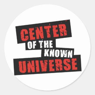 Center of the Known Universe Round Sticker