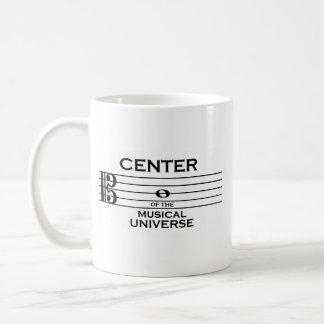 Center of the Musical Universe Alto Clef Design Coffee Mug